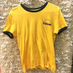 Brand New Volcom Yellow Tee Womans
